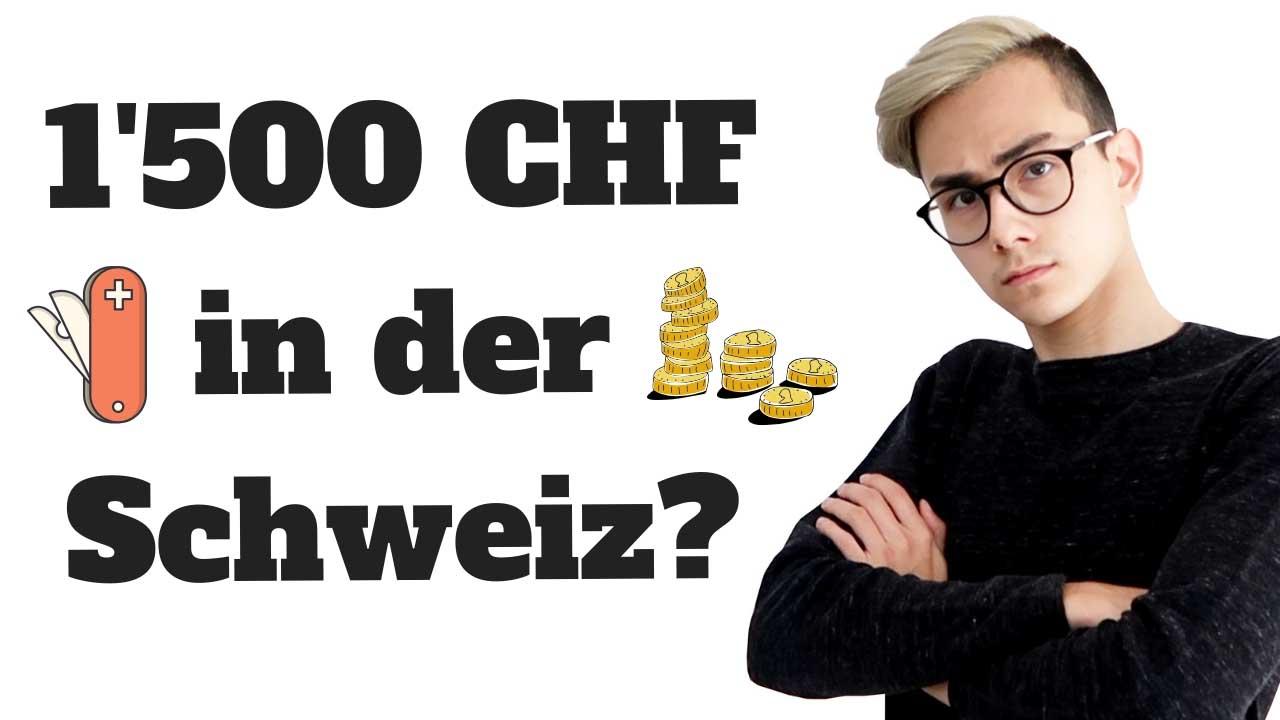 Wie lebt es sich mit 1'500 CHF im Monat in der Schweiz? Minimalismus